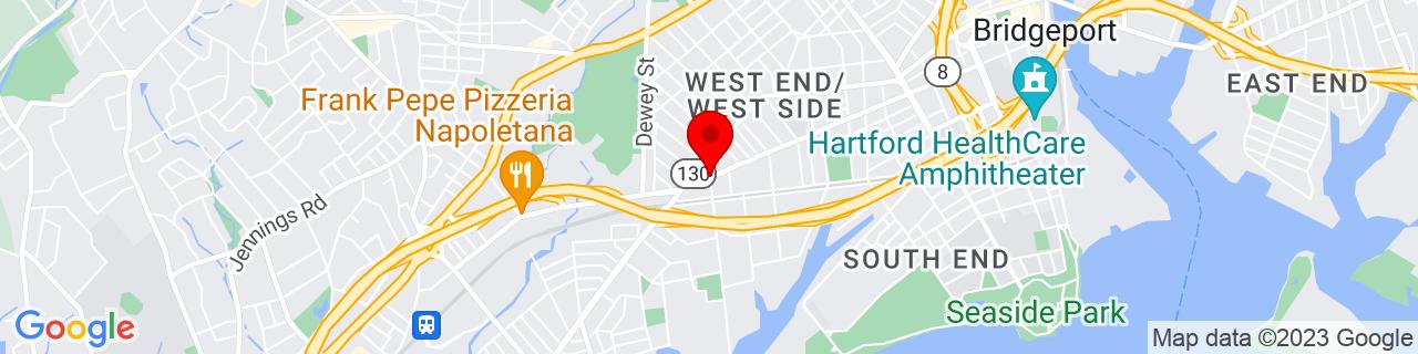 Google Map of 41.16907, -73.21332749999999