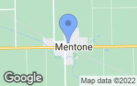 Map of Mentone, IN
