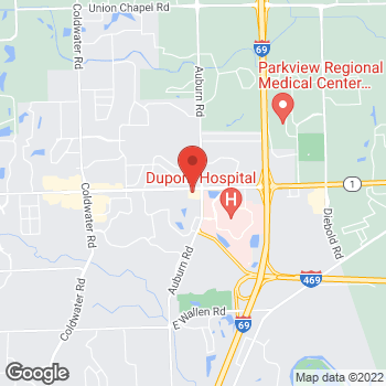 Map of Panera Bread at 2104 East DuPont Road, Fort Wayne, Indiana 46825