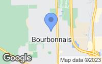 Map of Bourbonnais, IL