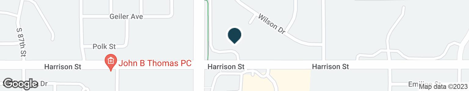 Google Map of8380 HARRISON ST