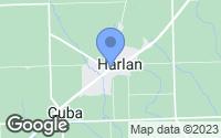 Map of Harlan, IN