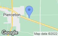 Map of Pierceton, IN