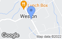 Map of Weston, CT