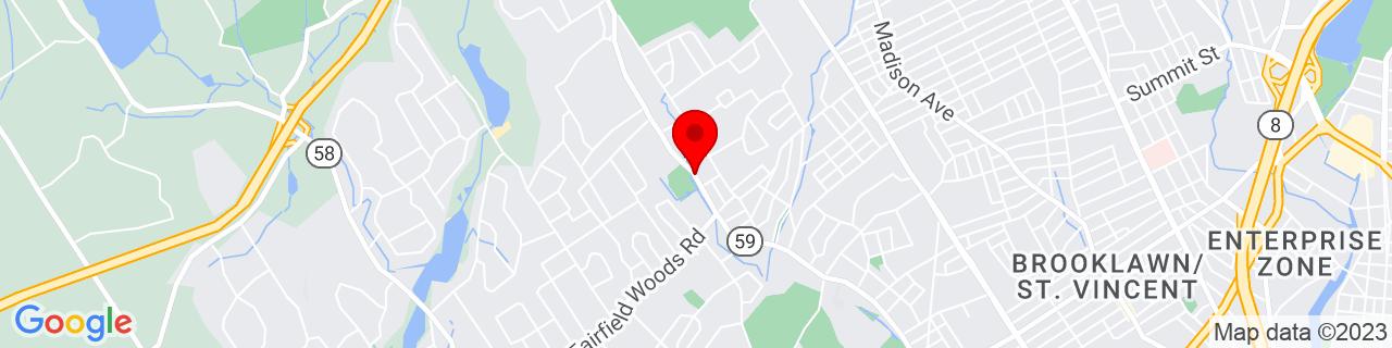 Google Map of 41.2000369, -73.2383572