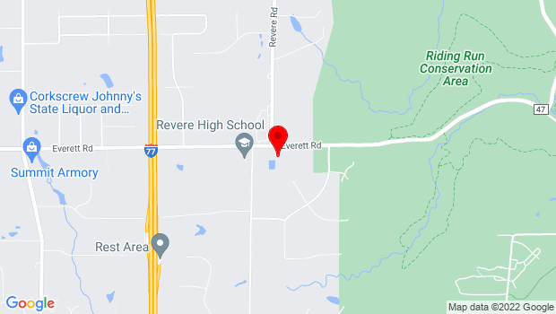 Google Map of 3316 Everett Rd, Richfield, OH 44286