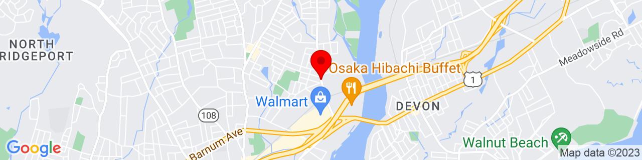 Google Map of 41.2055361, -73.1186415