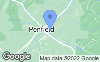 Map of Penfield, PA
