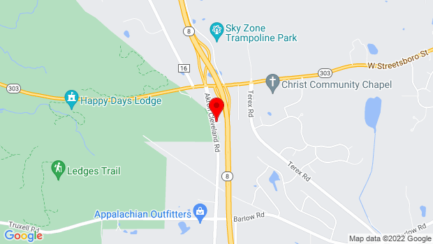 Google Map of 5893 Akron Cleveland Road, Hudson, OH 44236