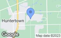 Map of Huntertown, IN