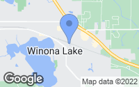 Map of Winona Lake, IN