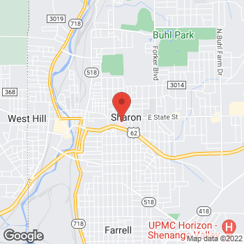 Map of Gregg Schubach, MD at 740 E State Street, Sharon, PA 16146