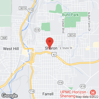 Map of Elias Shattahi, MD at 740 East State Street, Sharon, PA 16146