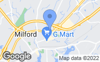 Map of Milford, CT