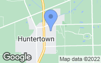 Map of Huntertown, IN