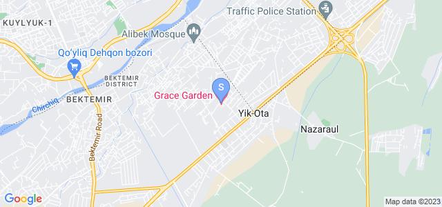 Расположение гостиницы Грейс Гарден на карте