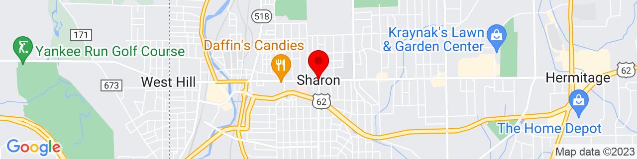 Google Map of 41.2331116, -80.4934035
