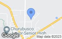 Map of Churubusco, IN