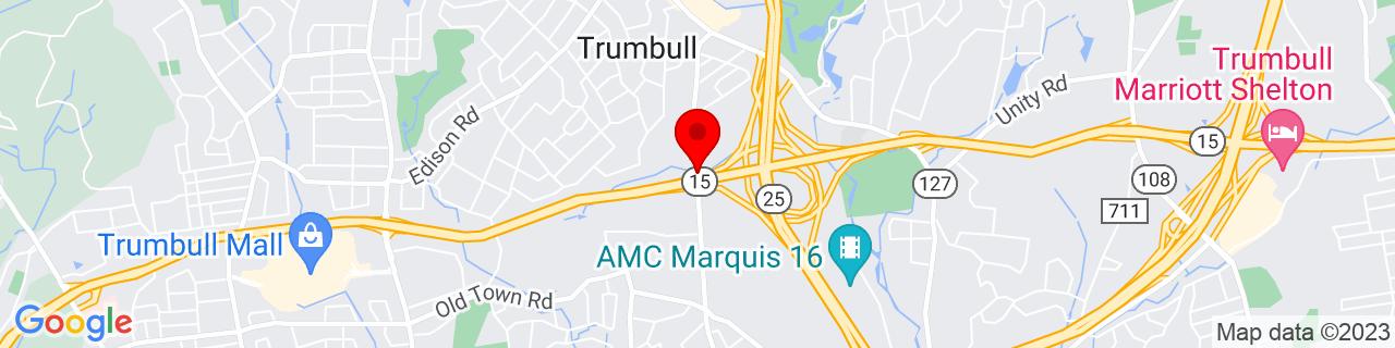 Google Map of 41.2353532, -73.19586009999999