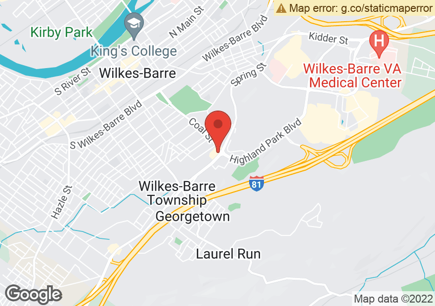 Google Map of 400 WILKES BARRE TOWNSHIP BLVD