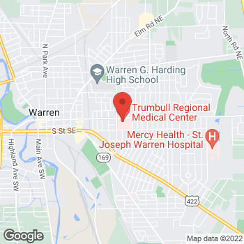 Map of Syed Ahmed, MD at 1350 East Market St, Warren, OH 44482