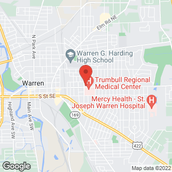 Map of Michael Burley, MD at 1353 E. Market Street, Warren, OH 44483