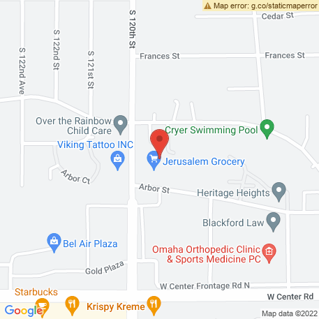 Mobile Animal Clinic on Map (2437 S 120th St, Omaha, NE 68144) Map