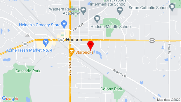 Google Map of 41 South Oviatt Street, Hudson, OH 44236