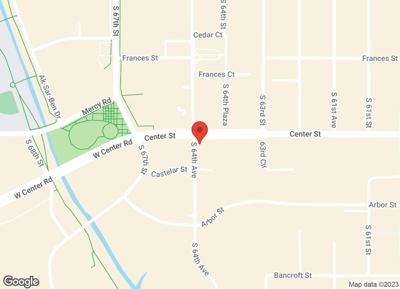 Google Map of VCA Animal Medical Center of Omaha