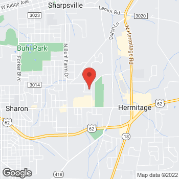 Map of Steward Surgical & Weight Loss Specialists at 2425 Garden Way, Hermitage, PA 16148