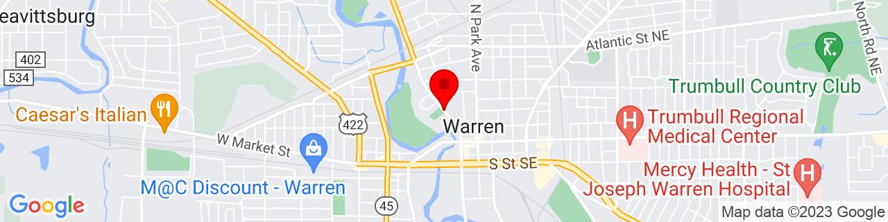 Google Map of 41.2389875, -80.8221283