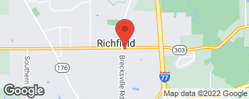 Map of 3807 Brecksville Rd in Richfield