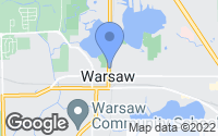 Map of Warsaw, IN