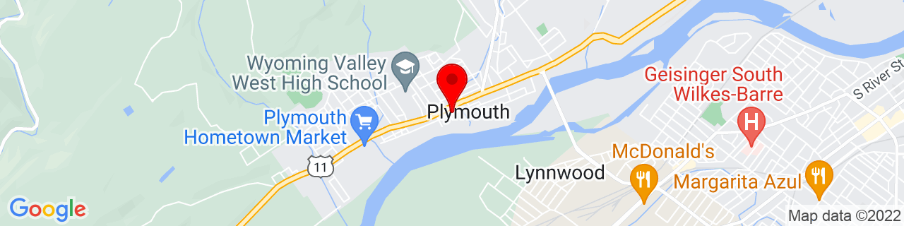 Google Map of 41.24027777777778, -75.94472222222223