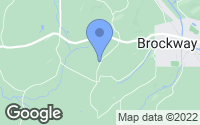 Map of Brockway, PA