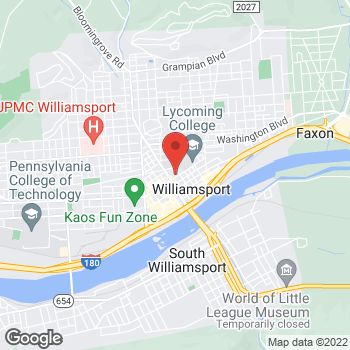 Map of BAYADA Adult Nursing at 49 East 4th Street, Williamsport, PA 17701