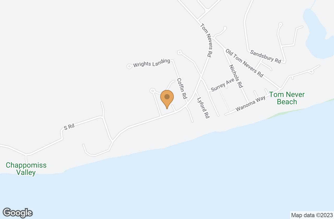Google Map of 97 Tom Nevers Road, Nantucket, MA, USA