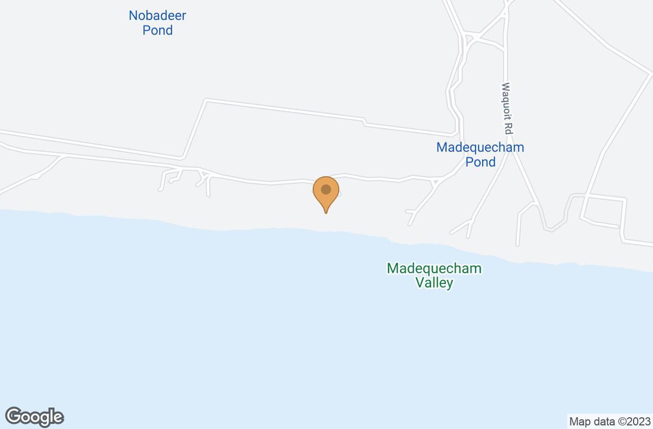 Google Map of 14 Madequecham Valley Road, Nantucket, MA, USA