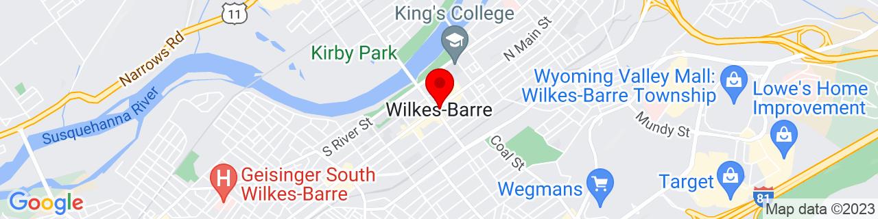 Google Map of 41.2459149, -75.88130749999999