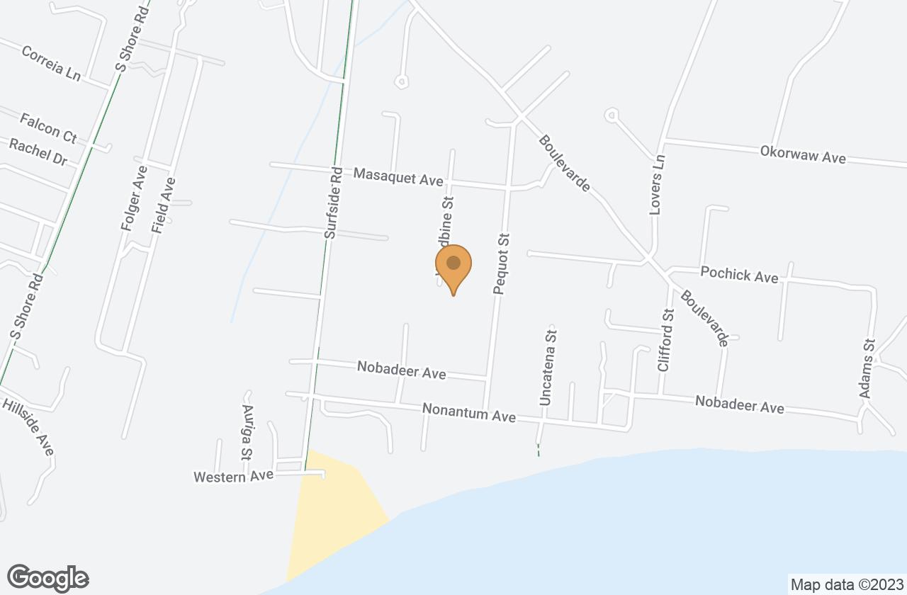 Google Map of 21 Woodbine St