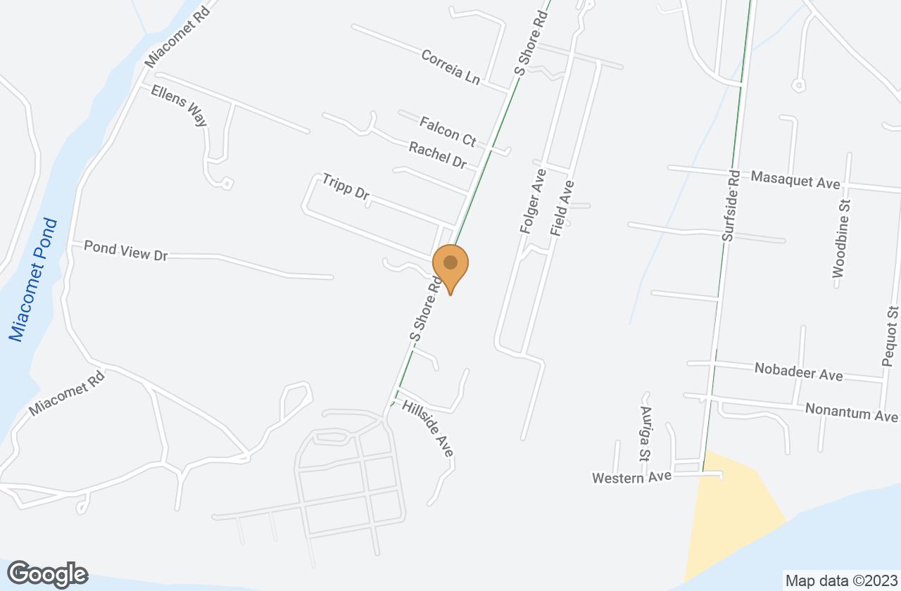 Google Map of 62 South Shore Road, Nantucket, MA, USA
