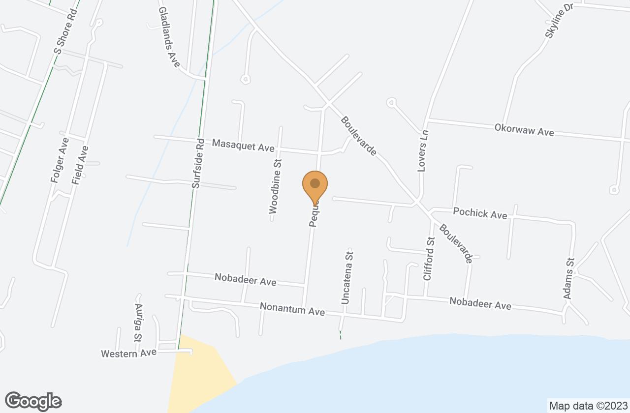 Google Map of 12.5 Pequot Street, Nantucket, MA, USA
