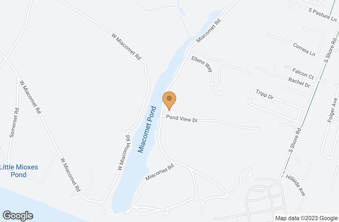 Google Map of 142 Miacomet Rd