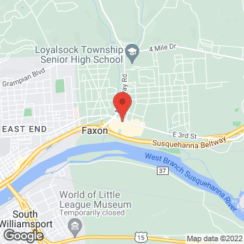 Map of Arby's at 1726 E 3rd St, Williamsport, PA 17701-3848