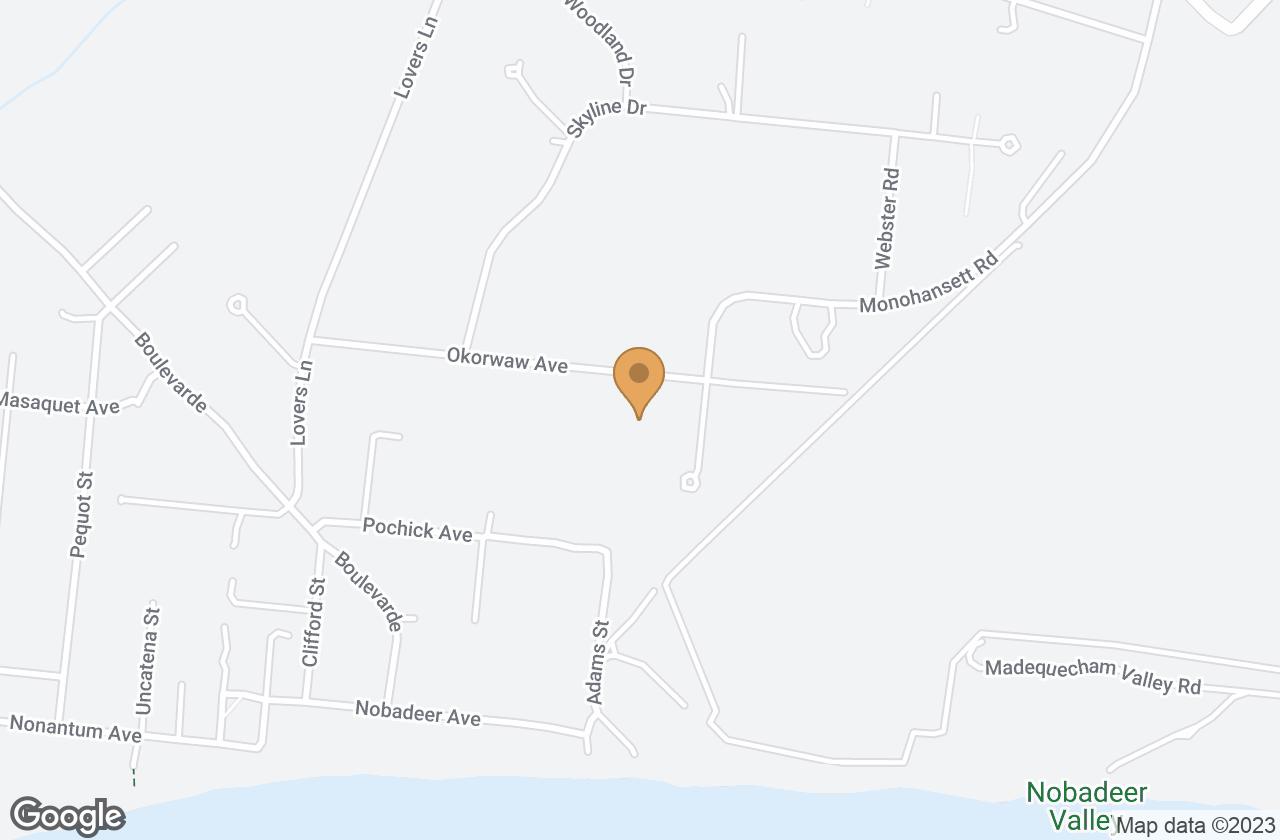 Google Map of 35 Okorwaw Avenue, Nantucket, MA, USA