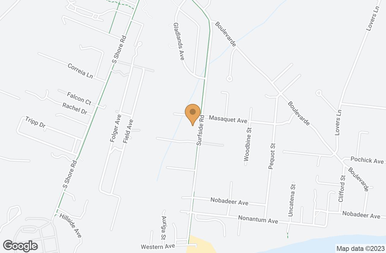 Google Map of 139 Surfside Road, Nantucket, MA, USA