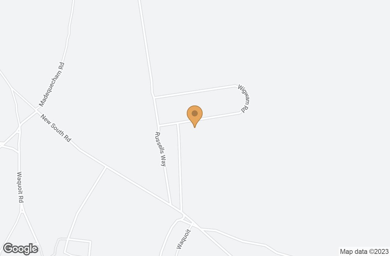Google Map of 36 Wigwam Road, Nantucket, MA, USA
