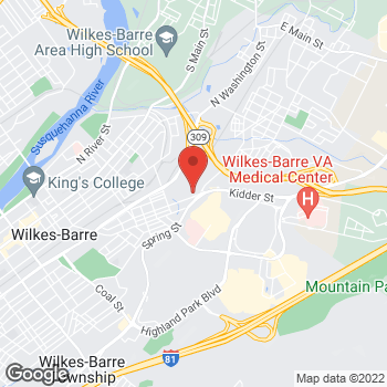 Map of Taco Bell at 426 Kidder Street, Wilkes Barre, PA 18702