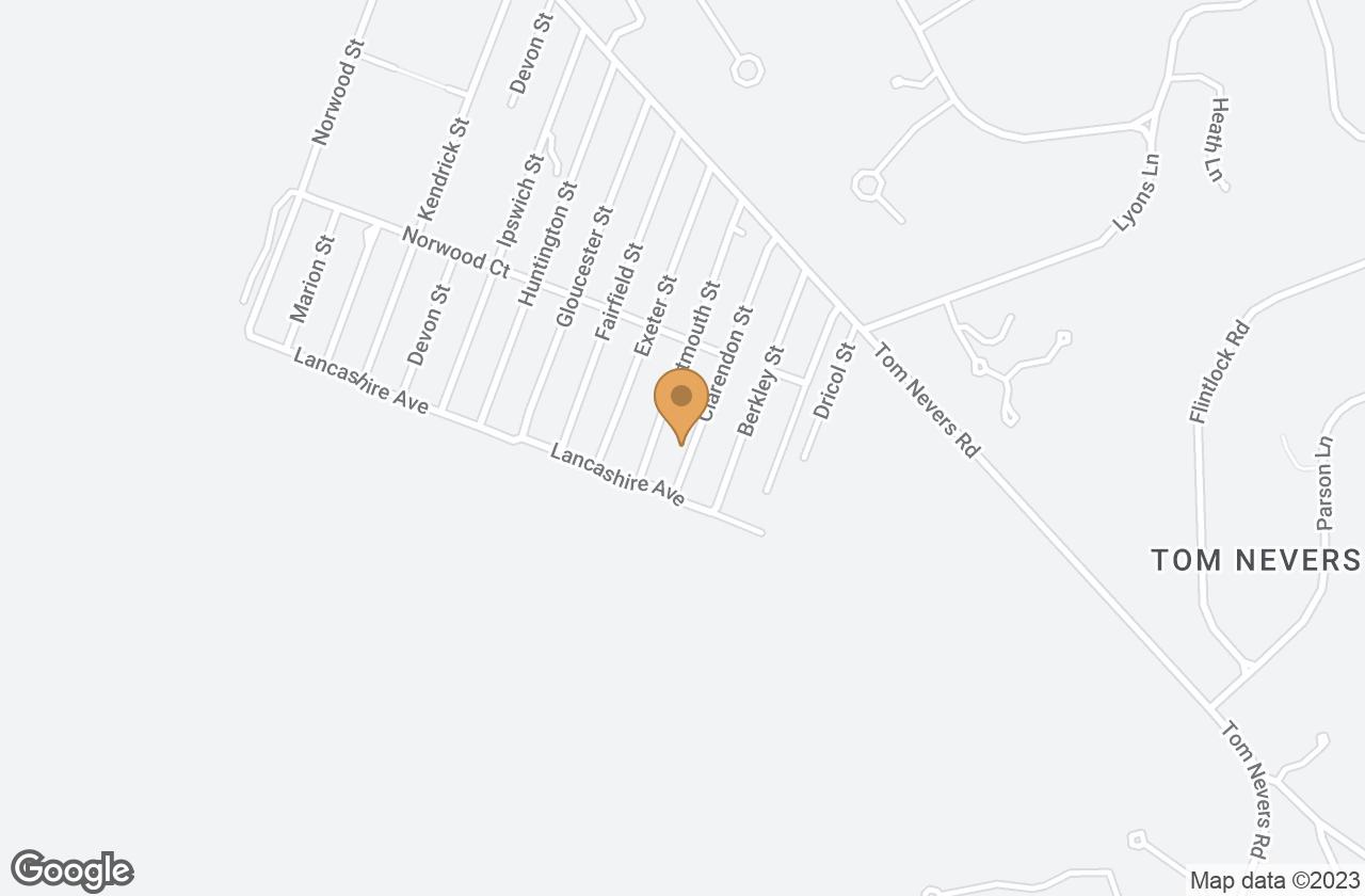 Google Map of 25 Clarendon Street, Nantucket, MA, USA