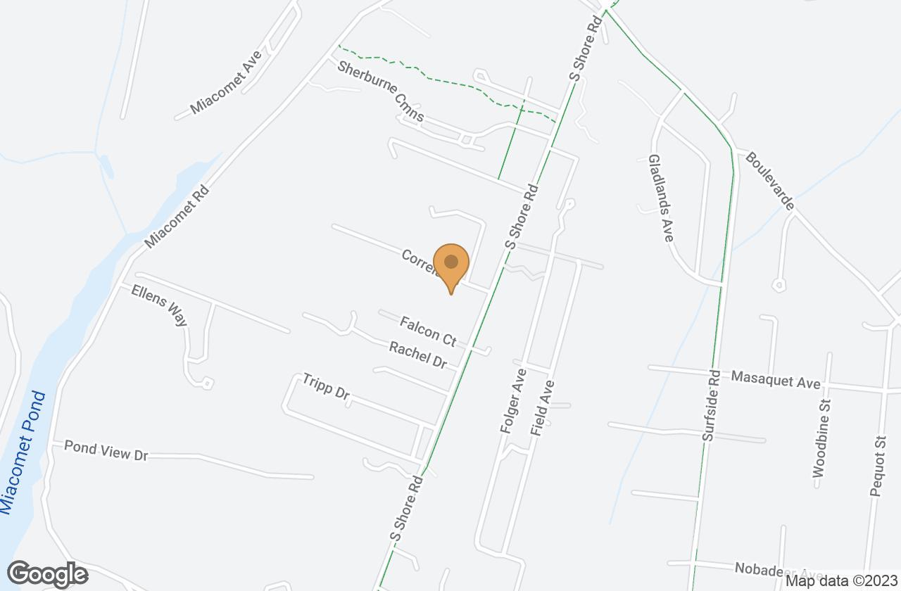 Google Map of 12 (Lot 2) Correia Lane, Nantucket, MA, USA